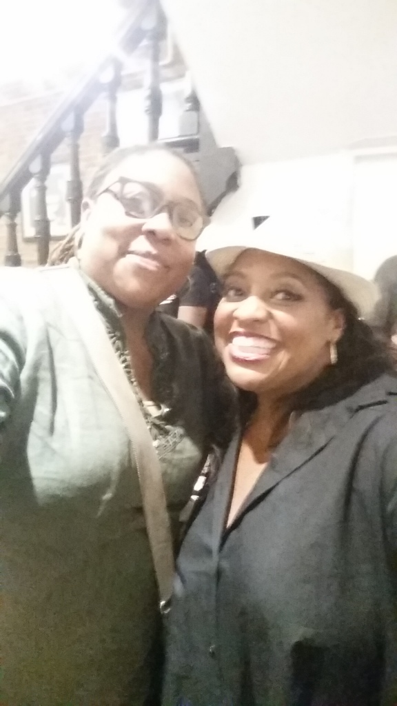 Sherri shepherd and I at Sylvester The Musical